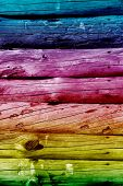 Color wooden logs background