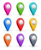 Set of color map location markers