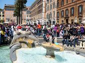 Spanish Steps And Fontana `barcaccia`