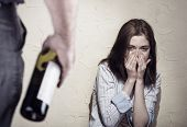 pic of dominant woman  - Woman victim of domestic violence and abuse - JPG