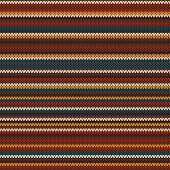 Striped Colourful Knitting Pattern. Seamless Background