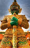 pic of enormous  - An enormous statue of a guard at the entrance of the Grand Palace in Bangkok - JPG