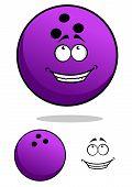 Lucky Cartooned Bowling Ball