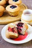 Poached Plums Cakes
