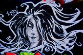 Street art Montreal woman