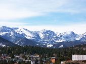 View of Estes Park from above