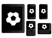 Mobile Devices With Football Black