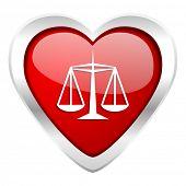 justice valentine icon law sign