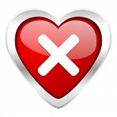 cancel valentine icon x sign