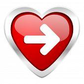 right arrow valentine icon arrow sign