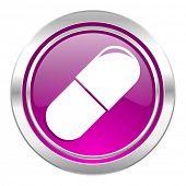 drugs violet icon medical sign