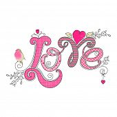 Love design  isolated on white background, vector illustration.