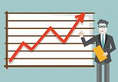 Vector Flat Illustration Of Development And Growth