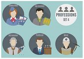 Постер, плакат: Profession People Set 4