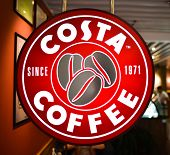 SHENZHEN - APRIL 17: Costa cafe on April 17, 2014 in Shenzhen, China. Costa Coffee is a British multinational coffeehouse company headquartered in Dunstable, United Kingdom