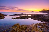 Laguna Beach at sunset, California