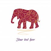 Original beautiful card with elephant