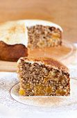 Slice Of Wholewheat Apricot Cinnamon Cake