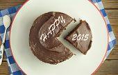 Happy New Year 2015 Cake