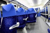 Blue Seats In The Train