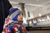 Child On Subway Platform