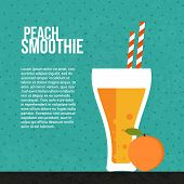 pic of fruit shake  - Fresh smoothie vector concept - JPG