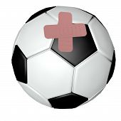 Soccer Ball With Band Aids