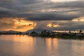 Sunset In Kuching, Borneo
