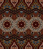 Vector abstract ethnic indian pattern tribal