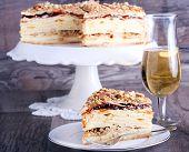 Layered Cake With Custard
