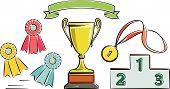 Awards illustration (Vector)