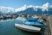 Boats In Marina In La Tour-de-peliz In Switzerland