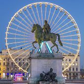 View Of Place Bellecour By Night
