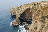 stock photo of grotto  - Blue Grotto View in Malta island - JPG