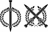pic of legion  - roman swords and wreath - JPG