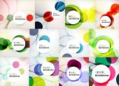 stock photo of composition  - Set of circle abstract backgrounds - JPG
