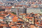 stock photo of red roof  - Red roofs and typical building of Nice - JPG