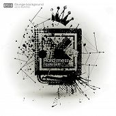 Постер, плакат: Grunge textures Abstract vector grunge background poster for party Grunge print for t shirt Abstr