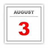 foto of august calendar  - August 3 - JPG