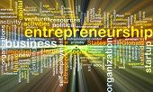 stock photo of entrepreneurship  - Background concept wordcloud illustration of entrepreneurship glowing light - JPG