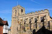 foto of chapels  - St James Chapel build over Westgate Warwick Warwickshire England UK Western Europe - JPG