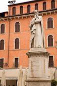 picture of alighieri  - The Dante Alighieri statue in the center of Verona Italy - JPG