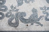 pic of thermal  - Mosaic details in the old town of Ostia Rome Italy - JPG