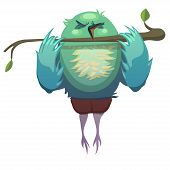 picture of animated cartoon  - Vector illustration of sparrow - JPG