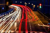 stock photo of noise pollution  - traffic in city at night - JPG