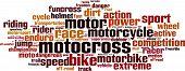 foto of motocross  - Motocross word cloud concept - JPG