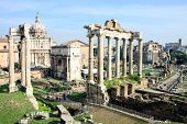 ������, ������: View of ruins in Roman Forum Rome Italy