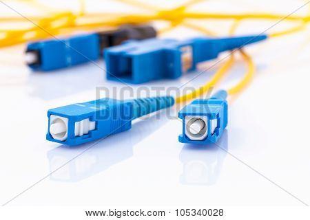 Fiber Optics Connectors Symbolic Photo For Fast Internet Connection ...