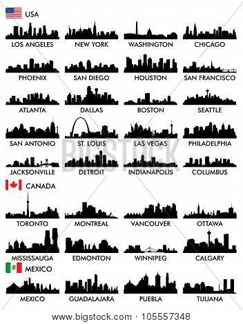 City skyline North America