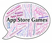 Постер, плакат: App Store Games Shows Retail Sales And Application